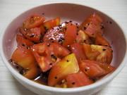 はなまるでやってたトマトの胡麻あえ❤の写真
