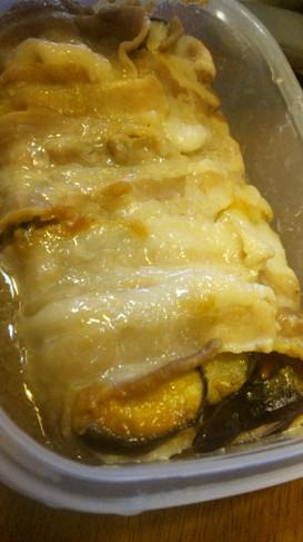 豚バラ・ナス・キャベツの重ね蒸し 味噌味