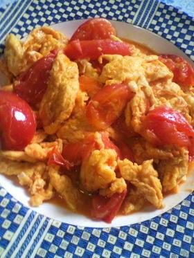 定番!中国人ちのトマトと卵炒め