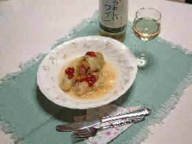 ウインナーソーセージと野菜のロールキャベツ