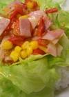 レンジで☆トマトベーコン丼