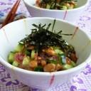 ✿梅きゅうり納豆✿