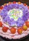 誕生日☆いちごババロア+レアチーズケーキ