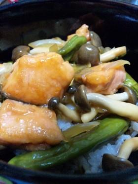 ☆鮭とししとうの簡単のっけ丼☆