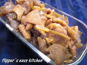 鶏皮とこんにゃくの甘辛煮