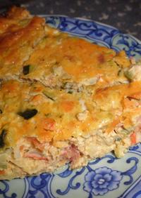 キッシュ風ズッキーニのエッグオーブン焼き