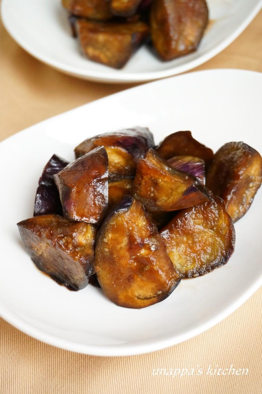 茄子のハチミツ&バルサミコ酢炒め