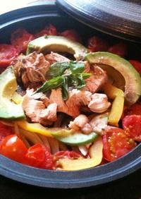 タジン鍋でバルサミコ+ミント風味