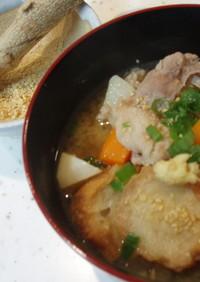 仙台麩と豚肉の食べる味噌汁