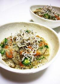簡単✿オクラと納豆と昆布なっとうの和え物