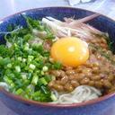 納豆と卵で★ぶっかけ冷麦