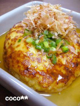 とろりあんかけ☆ふわふわ豆腐ハンバーグ