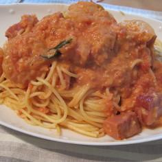 エビごろごろトマトクリームスパゲティ