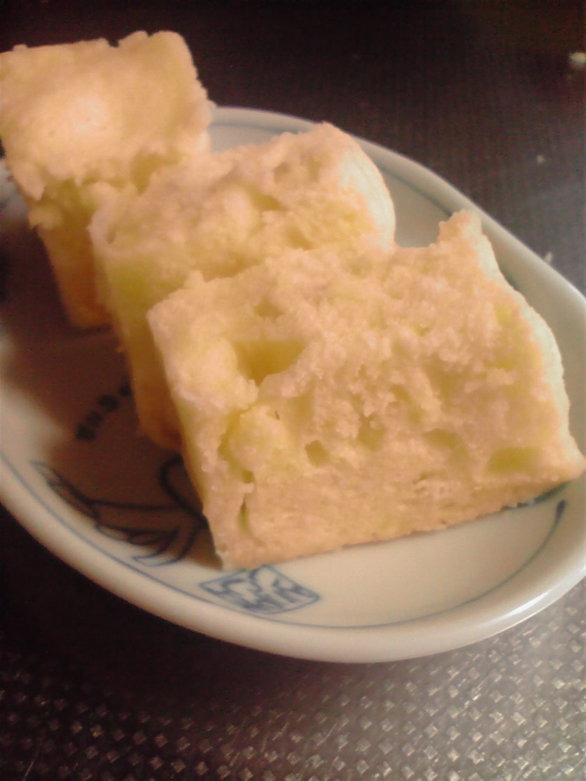 簡単☆レンジで2分・卵蒸しパン