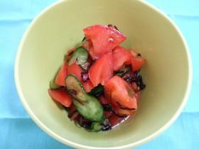 トマトと塩こんぶの夏サラダ