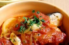 たらとじゃがいものトマト煮込み