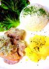 鶏のクリーム煮ワンプレート☆おうちカフェ