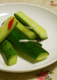 りんごジュースで水キムチ風漬物(胡瓜)