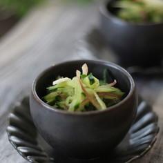きゅうりと香味野菜和え