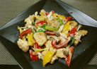 鶏肉とパプリカのマヨネーズ炒め