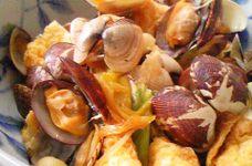 アサリと油揚げのふっくら煮