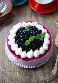 ブルーベリー♪レアチーズムースケーキ♪