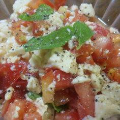 豆腐のカプレーゼ風サラダ