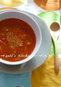 ☆簡単♪キムチとトマトの【赤い】スープ☆