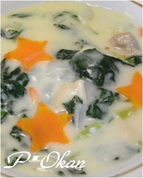 小松菜と鶏もも肉のクリーム煮