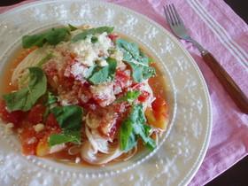 レンジde冷製トマトソースそうめん