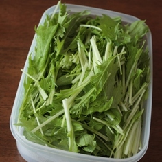 水菜が長持ち*我が家の保存方法