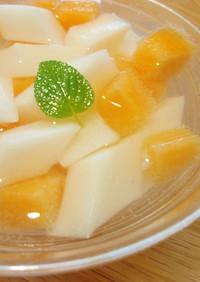 サイダー and 杏仁豆腐