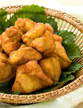 鶏のから揚げ カレー味