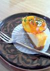 ベイクドチーズケーキにキラ2★飴細工デコ