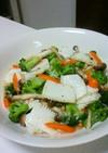 イカとブロッコリーの中華風ネギ塩炒め