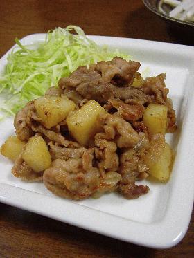 豚肉のにんにく味噌焼き。