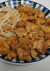 鶏モモともやしの甘酢煮