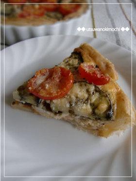 ピザ味☆なすとトマトのイタリアンキッシュ