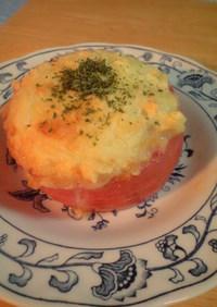 簡単ウマウマ♪トマトのまるごとグラタン