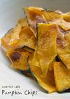 電子レンジde揚げないかぼちゃのチップス