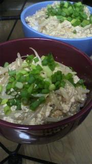 超節約丼♪豆腐ともやしだけご飯!の写真