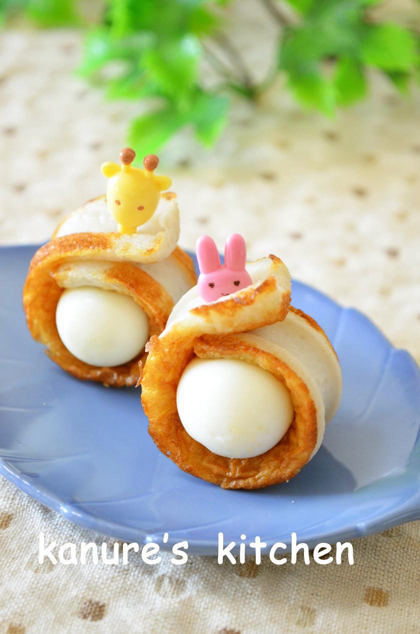 お弁当・おつまみに☆うずら卵のちくわ巻き