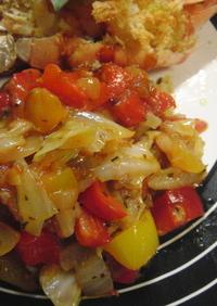 ♡トマトソース作りながら野菜煮込み♡