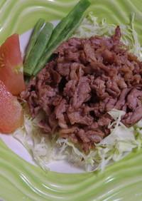 豚肉のニンニク炒め