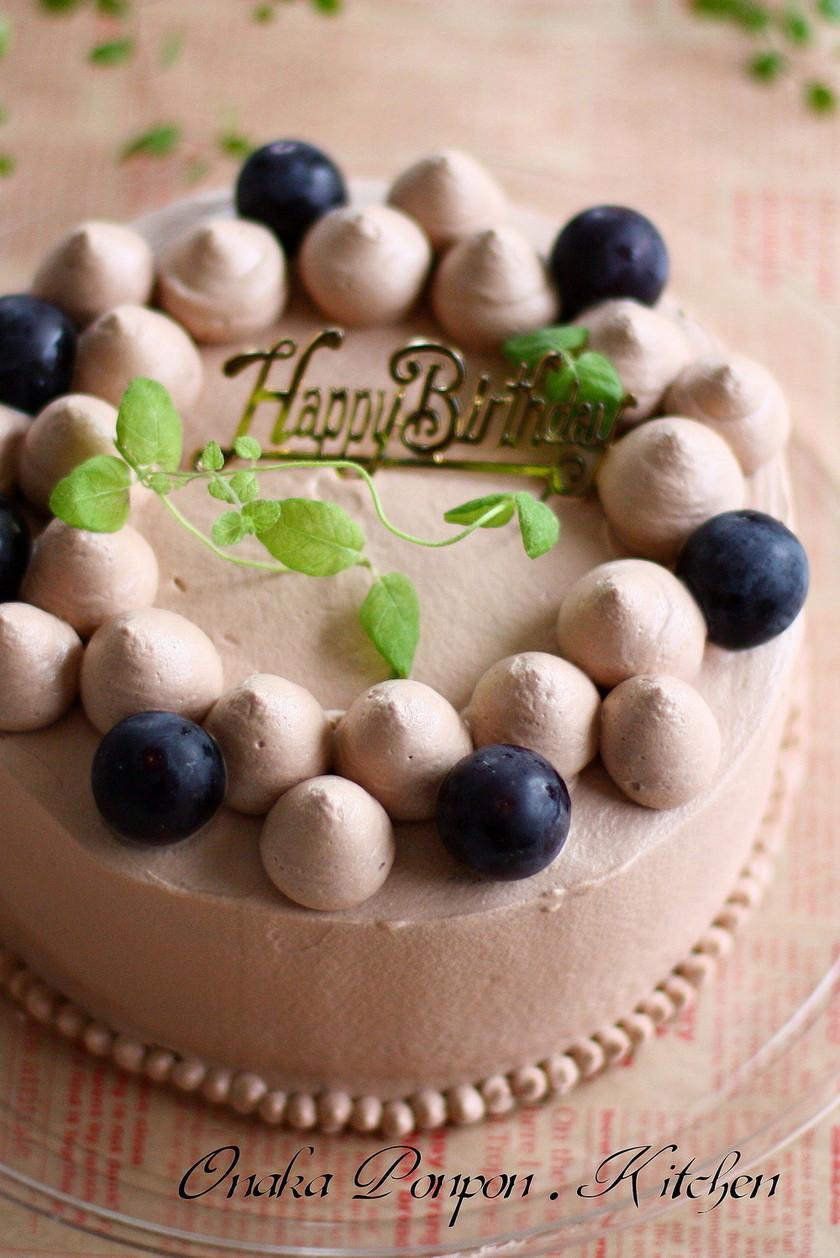 チョコ♪デコレーションケーキ♪