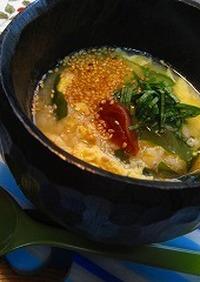 食欲のない朝に、味噌雑炊!