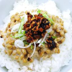 【食べるラー油『納豆飯』】の作り方