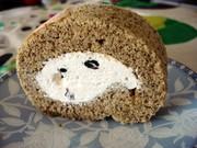 乳製品無し ほうじ茶黒豆ロールケーキの写真