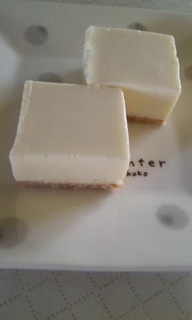 レアチーズケーキ【豆乳で】
