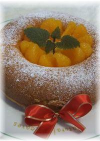ジュースDE簡単オレンジケーキ